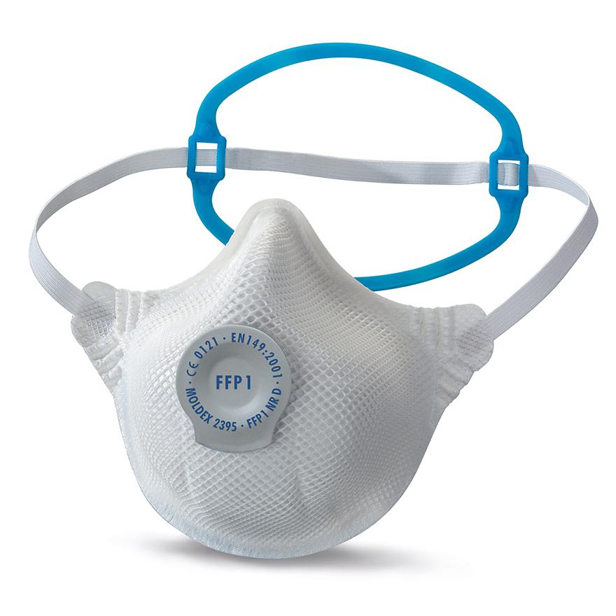 Atemschutz Maske Moldex 2395 FFP1 mit elastischem Band und Stabilisator für Hinterkopf