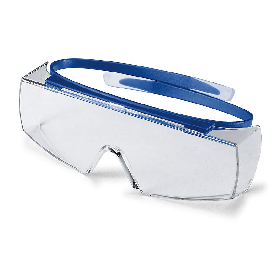 Schutzbrille Überbrille mit Seitenschutz und elastischen Bügeln