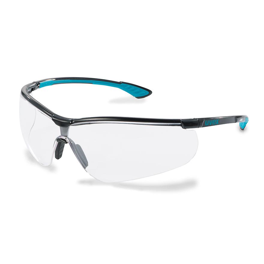 Schutzbrille von Uvex mit längenverstellbarem Bügel und beschlagfreien Scheiben