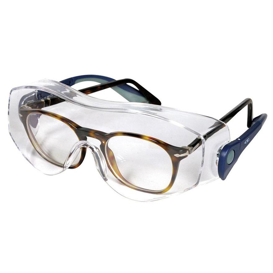 Schutzbrille Überbrille von Cofra mit Seitenschutz und längenverstellbarem Bügel