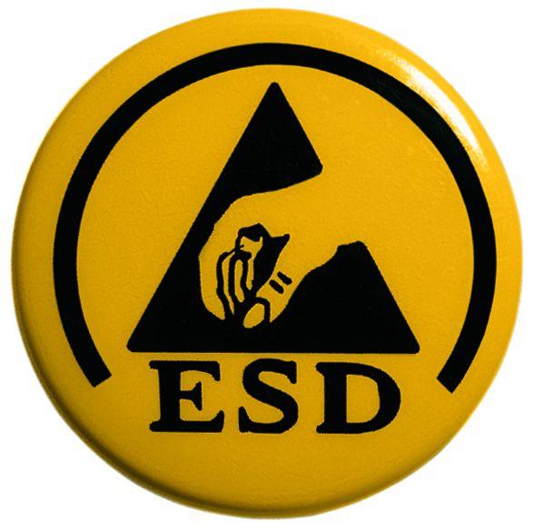 Logo für ESD Zertifizierung, das heißt Schutz vor elektrostatischer Aufladung