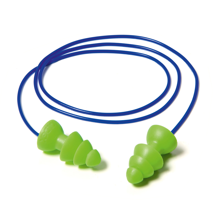 Gehörschutz Stöpsel verbunden mit Band