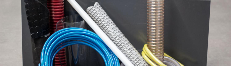 Gummimatten, Schläuche und PVC-Platte