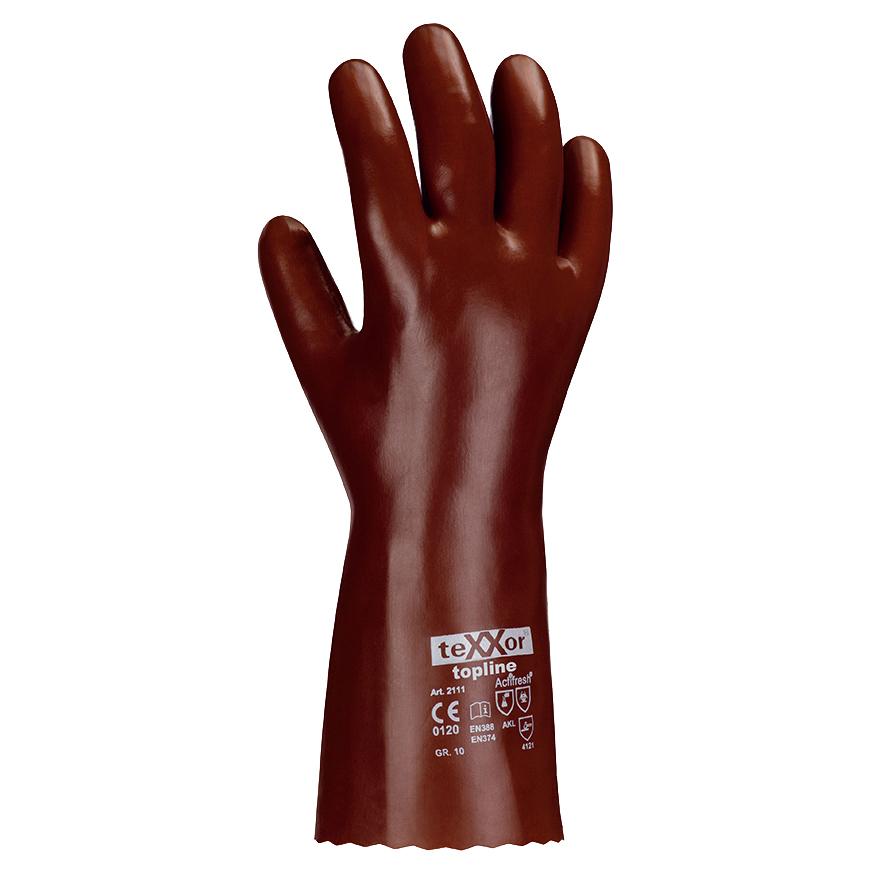 Arbeitshandschuhe der Marke texxor mit Säurenschutz und verlängertem Arm