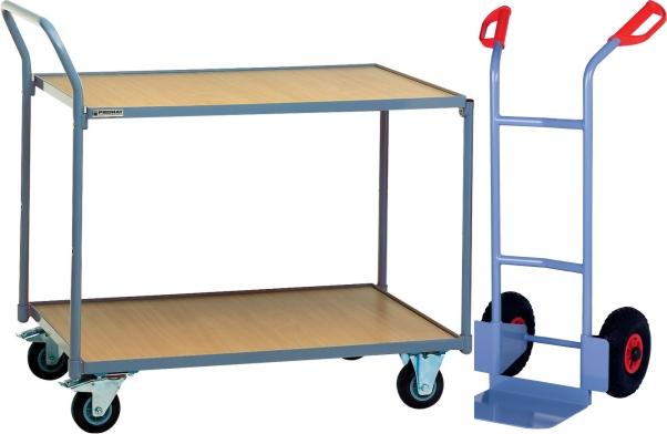 Werkstatteinrichtung wie Sackkarren und Transportwagen mit Rollen